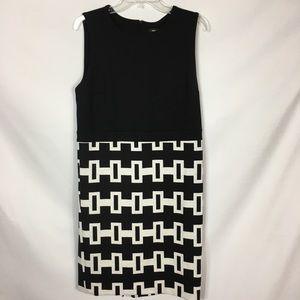 Premise Black & White Sleeveless Dress